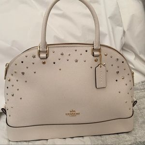 Coach satchel with star studs